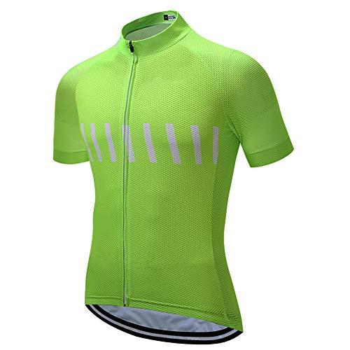 Herren Kurzarm-Radtrikot mit Taschen, Sommer-Mountainbike-Oberteile Atmungsaktives MTB-Shirt Schnelltrocknende Radtrikots für Mountain Road Racing