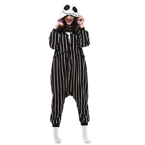 Jack Skellington schädel Skelett Pyjamas Nachtwäsche Bekleidung Animal Erwachsene Unisex Schlafanzüge Karneval Onesies Anime Carnival Spielanzug Kostüme Weihnachten Halloween Nachtwäsche Jungen