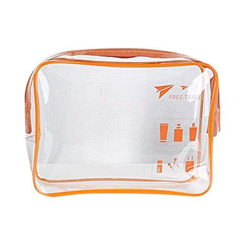 MOC Neceser transparente para cosméticos, bolsa de aseo para maleta, bolsa de aseo, impermeable, con cremalleras, viajes, negocios, vacaciones, baño