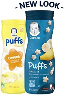 Gerber Graduates Puffs Cereal Snacks, Banana, 1.48 OZ