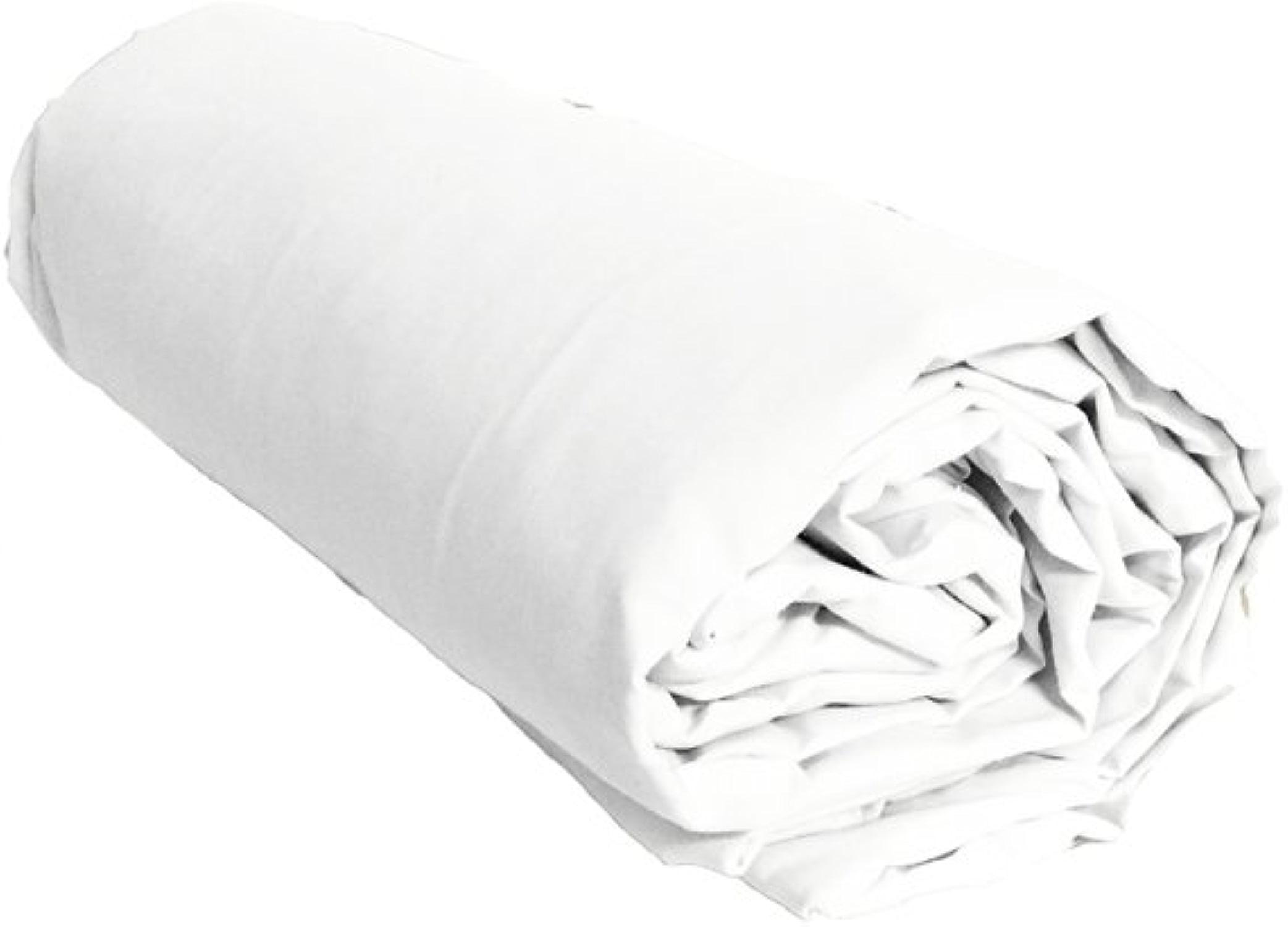 Drap Housse Uni Blanc Percale de Coton Salomé Prestige-200x200