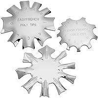 MWOOT 3 Piezas French Smile Line Edge Trimmer Cutter,Nail Art Edge Recortador Metal Plantilla Cutter Acrílico UV Gel Modelar,3 Formas