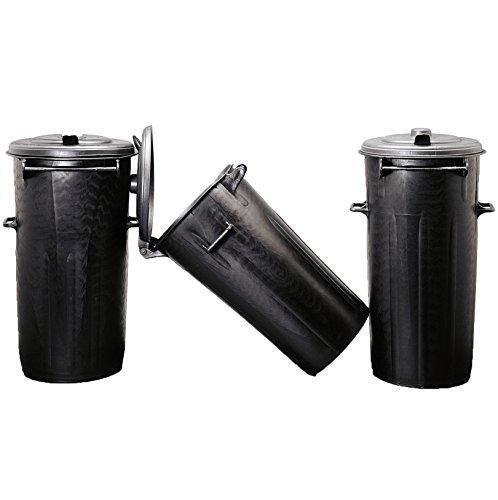 Poubelle pour déchets en PVC. Avec couvercle à charnière.