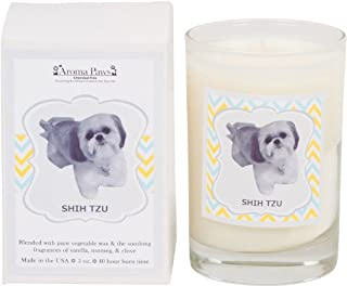Aroma Paws Aromatic Dog Candle with Gift Box – for Canine Pet Odors, Vanilla Nutmeg Clove Scent – Cotton Wick Handcrafted – Soy Wax – Reusable, Recyclable Jar – 5 Oz.