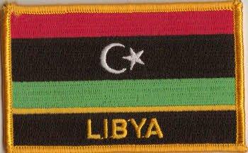 Flaggen Aufnäher Patch Libyen Fahne Flagge - 9 x 6 cm