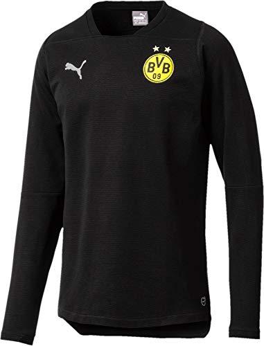 PUMA Herren BVB Casual Sweat Without Sponsor Logo Sweatshirt, Black, S