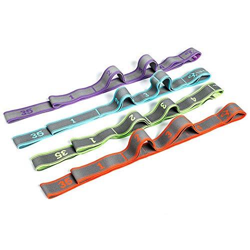 Elastische banden worden gebruikt voor fysiotherapie, yoga, lichaamsbeweging, fitness, weerstandsbanden, veterbandjes voor volwassenen, dans, beginners voor mannen en vrouwen, spanbanden - vier sets