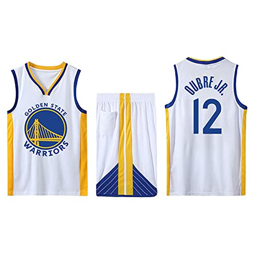 LIJIANIULI Conjunto de 2 Piezas de Camiseta sin Mangas de Entrenamiento de Baloncesto y Pantalones Cortos Traje de Camiseta Pantalones Cortos Deportivos Golden State Warriors Jerseys + Pantal