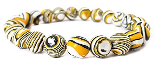 Pulsera elástica para hombre y mujer, con piedras preciosas naturales de 8 mm, para reiki, idea de regalo de cumpleaños, original difusor de energía para curar el equilibrio, Piedra,