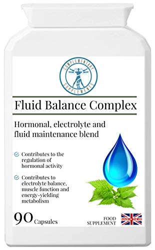Complementary Supplements | Fluid Balance Complex | Hormonal, Electrolyte & Fluid Management Blend | Alfalfa | Kelp | Dandelion | Parsley | Magnesium | Vegan | 90 Capsules