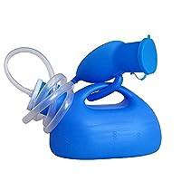 小便器、尿収集用男性用ポータブル高齢者旅行2000ml容量、1.4m水道管ブルー Harmonious home