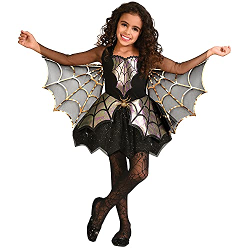 amscan 9911785 Childs Iridescent Spider Web Girl Fancy Dress Halloween Costume Age 3-4 Years