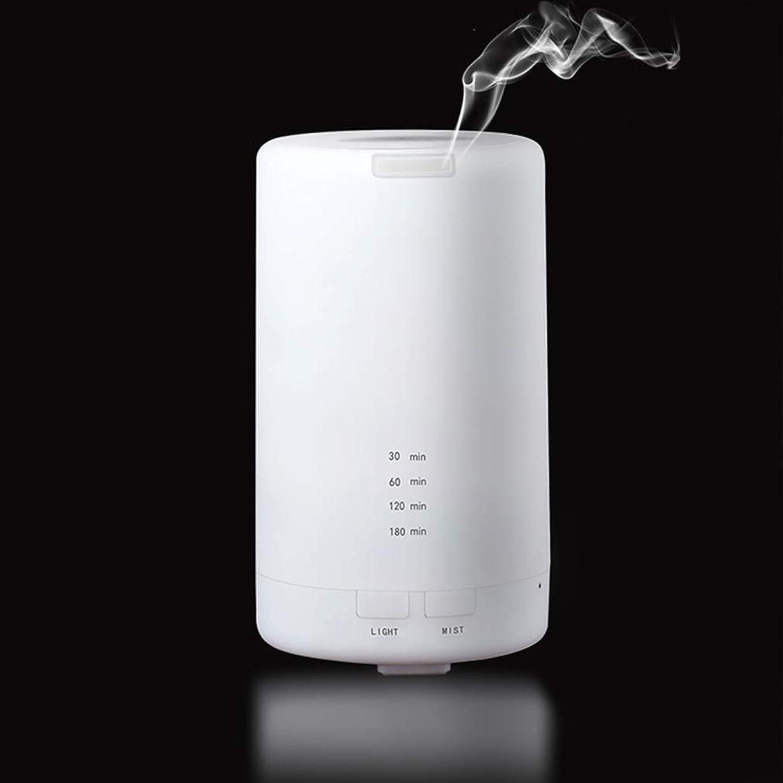 心配敵意アッパー100ml USB加湿器 超音波 アロマディフューザー 空気浄化機 自動オフ 時間設定 空焚き防止 カラーフルLED 静音 家庭/オフィス/自動車/旅行に適合 アロマ加湿器 ホワイト