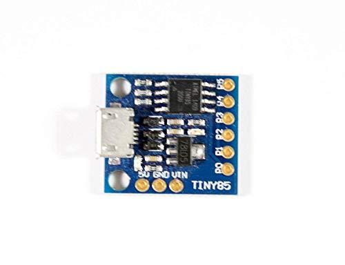 Paradisetronic.com Tiny85 Board mit Microchip Atmel ATtiny85, MicroUSB Buchse, kompatibel zu Digispark und Arduino IDE