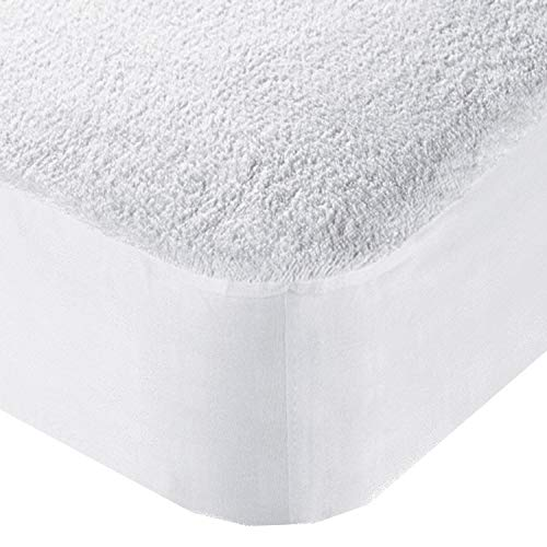 Olivia Rocco Extra Deep Waterproof Terry Towel Mattress Protector Topper Cover Breathable Fitted Bed Sheet Non Noisy (Single)