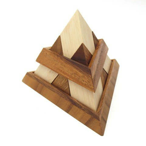 Dilemmata Triangle Dreiecks-Pyramide Puzzle Holz Puzzle Knobel IQ-Spiel