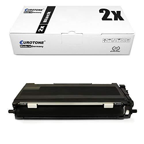 2x Eurotone Cartuccia Toner per Brother HL 2020 2030 2032 2040 2050 2070 R NR DN N sostituisce TN2000