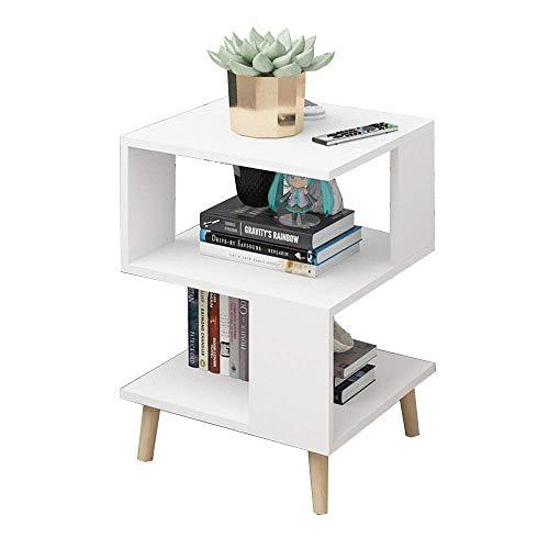 Carl Artbay Home&Selected Furniture/bijzettafel, salontafel, nachtkastje, boekenkastje, opbergrek, 40 x 40 x 57cm (kleur: blauw)