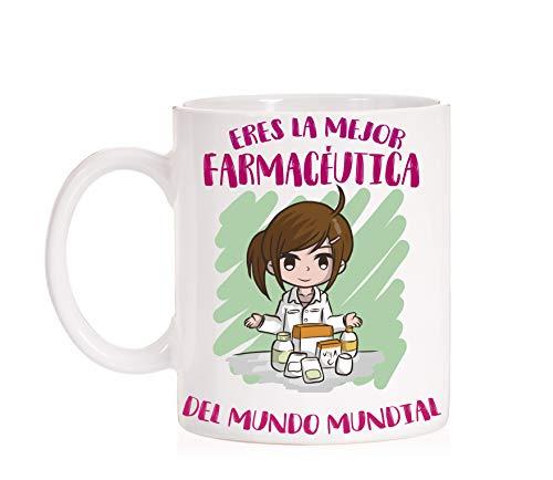 FUNNY CUP Taza Todas Las Profesiones. Taza A la Mejor farmaceutica del Mundo Mundial. Taza Divertida de Regalo (Farmaceutica)