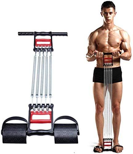N/ A Spannseil mit Griffen, Elastikon Chest Expander Spring Exerciser Verstellbares Multifunktionspedal Fitnessgerät mit Griff