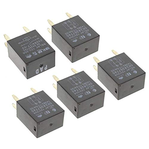 MOTOALL 5 Pack High Power 4 Pin Terminal Relays for GM 13500114 8385 12088567 12135170