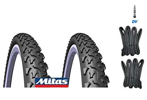 breluxx MITAS 2X Fahrradreifen SP.26 x 2,00 52-559 V36 Rapid + 2X Schlauch (DV Ventil)
