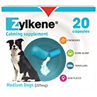 Zylkene Calming Supplement for Medium Dogs (10 to 30kg) 225mg  Helps ease Pet Anxiety in stressful s...