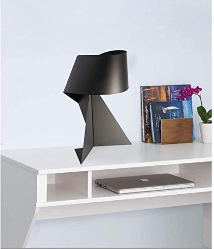 LED-Origami-Tischlampe, Schwarz / Weiß, Eisen, kreativ, Schwarz / Weiß, 2 Farben (Farbe: Schwarz), Schwarz