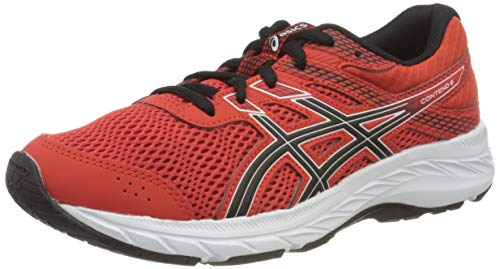 ASICS Contend 6 Running Shoe, Fiery Red/Black, 40 EU
