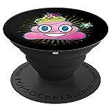 Poop Emoji Prinzessin Tiara - PopSockets Ausziehbarer Sockel und Griff für Smartphones und Tablets