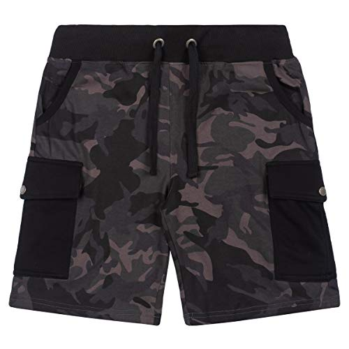 Alpha Industries Cargo Jogger Shorts Black camo