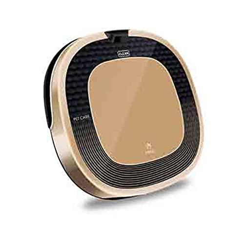 Aspirador robótico, autopración automática, succión de 1000pa, diseño Delgado, Anti-Gota, sin marginada Bueno para Pisos Duros para Mascotas, súper Tranquilo (Color : Gold, Tamaño : One Size)