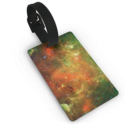 Etiquetas de Equipaje Nebula Galaxy Etiqueta de Nombre de PVC Identificación de Maleta de Viaje Etiquetas de identificación Etiqueta de Equipaje Duradera