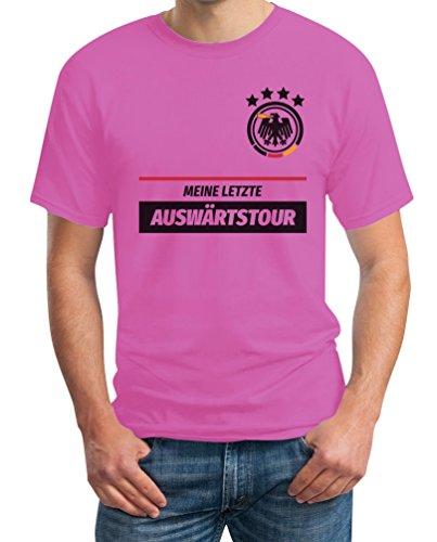 JGA Tshirt Junggesellenabschied Meine Letzte Auswärtstour Kombi T-Shirt XL Rosa