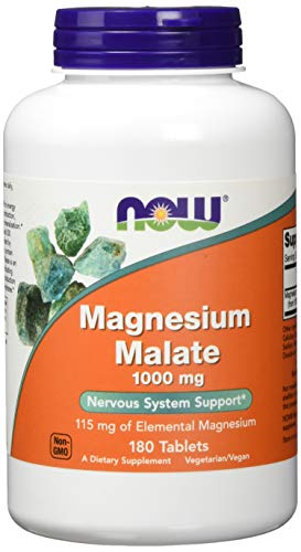 Now Foods Magnesium Malate 1.000mg Mineralien 180 Tabletten
