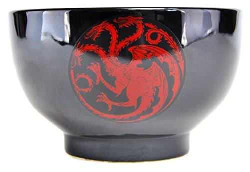 Game Of Thrones Tazón Juego de Tronos Targaryan, Color negro con rojo, 500 ml