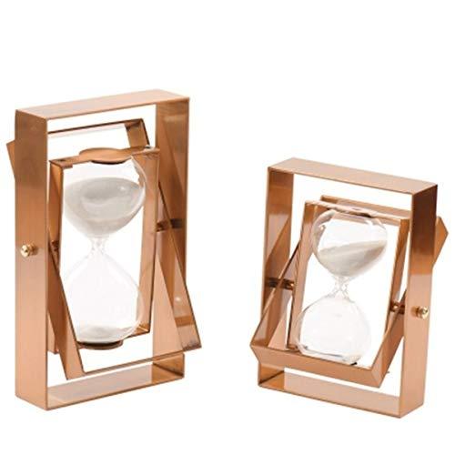 JINSUO NWXZU Eieruhr, Modern, Metall Drehzeit Glass Eieruhr, Clubhaus Restaurant Soft-Montagezubehör schönes Geschenk (Size : 17 * 5 * 28cm)