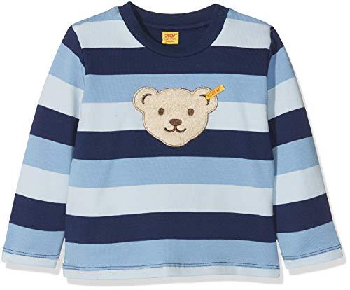 Steiff Baby-Jungen 1/1 Arm Sweatshirt, Blau (y/d Stripe|Multicolored 0001), 62
