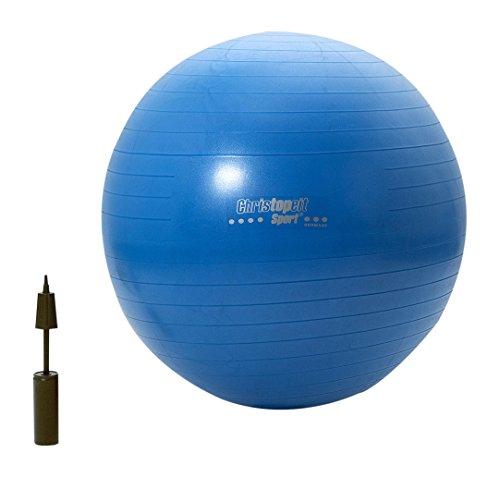 Christopeit Gymnastikball 75 cm mit Pumpe, blau, L, 1672