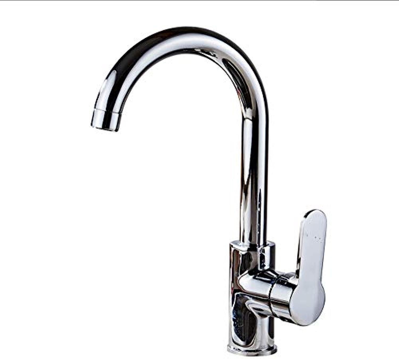 Wasserhahn Küchenarmatur 360 Grad Schwenk Feste Zinklegierung Küchenmischer Kalt und Warm Küchenarmatur Einlochmontage Wasserhahn