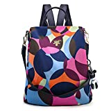 CONRUSER Women Backpack Purse, Waterproof Oxford Shoulder Bag Travel Casual Small Anti-theft Backpack