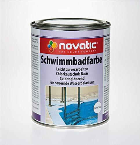 Schwimmbadfarbe Novatic RAL 6021 blassgrün seidenglänzend 5l