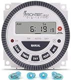 LEYDEN® Programmable Electronic Timer Switch TM619H-2, 30A, 17 Programs Digital Timer (White)