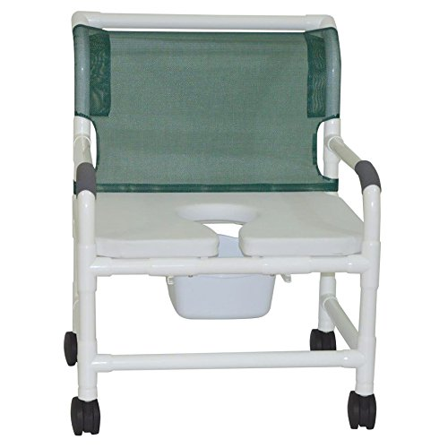 MJM International 126-4-NB-FSSS Extra Wide Shower Chair with Full Support Soft Seat, Royal Blue/Forest Green/Mauve