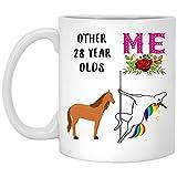 Regalo de 28 años para mujer nacida en 1989, regalo de 28 años para ella, divertida taza...
