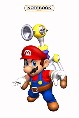 Notebook: Super Mario Sunshine Power , Wide ruled 100 Pages Bank Lined Paperback Journal/ Composition Notebook/Book Gifts For Kids, boys, girls