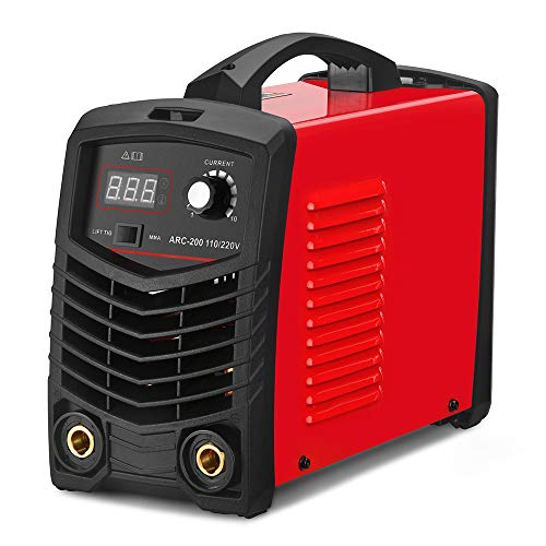 SUNGOLDPOWER ARC MMA Welder 200A Lift TIG Welding Machine Dual Voltage 110V 220V IGBT Digital Inverter Welder DC Portable Welding Machine Hot Start LCD Anti-Stick