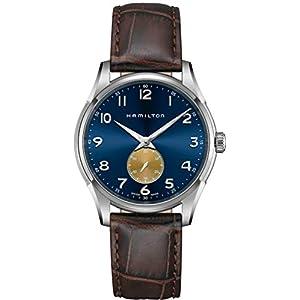 Hamilton Jazzmaster H38411540 – Reloj de Pulsera para Hombre (Mecanismo de Cuarzo, Esfera Azul, Piel)