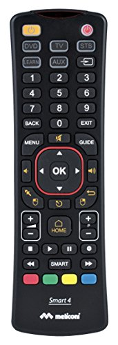 Meliconi 802000 Smart-4 universele afstandsbediening 4-in-1 voor Smart-TV met Qwerty-toetsenbord Wireless zwart
