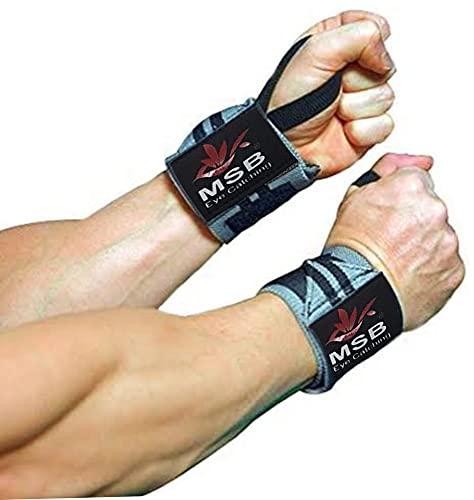 Muñequeras Deportivas Gym Profesionales , Wrist Wraps, Wrist support (UN PAR) Hombre y Mujer, 50cm, Resistentes,Gimnasio, Crossfit, Levantamiento de Pesas, Fitness, Musculación, Powerlifting,